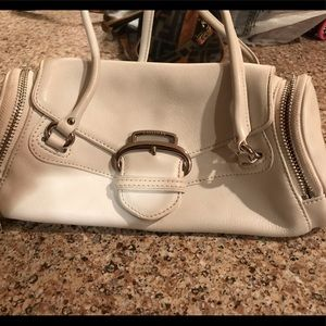 Mini COLE HAAN barrel bag in white leather